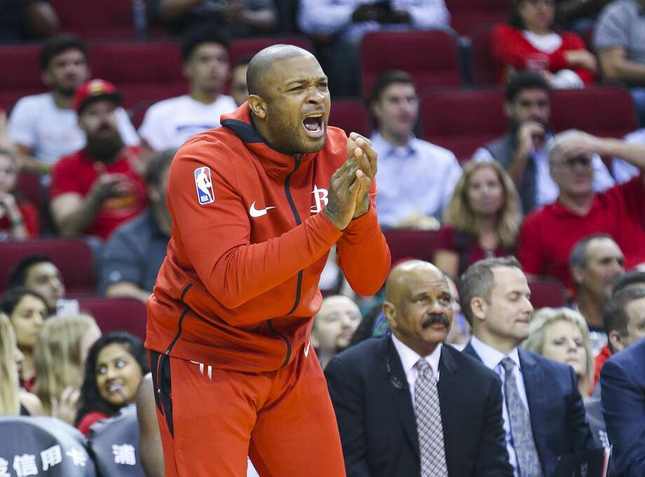 PHOTOS: Rockets vs. Mavericks Houston Rockets forward PJ Tucker (17) reacts from the bench during the second half of a game between the Houston Rockets and the Indiana Pacers at Toyota Center, Thursday, Oct. 4, 2018 in Houston. >>>See game action from the Rockets' game against the Mavericks ... Photo: Mark Mulligan/Staff Photographer