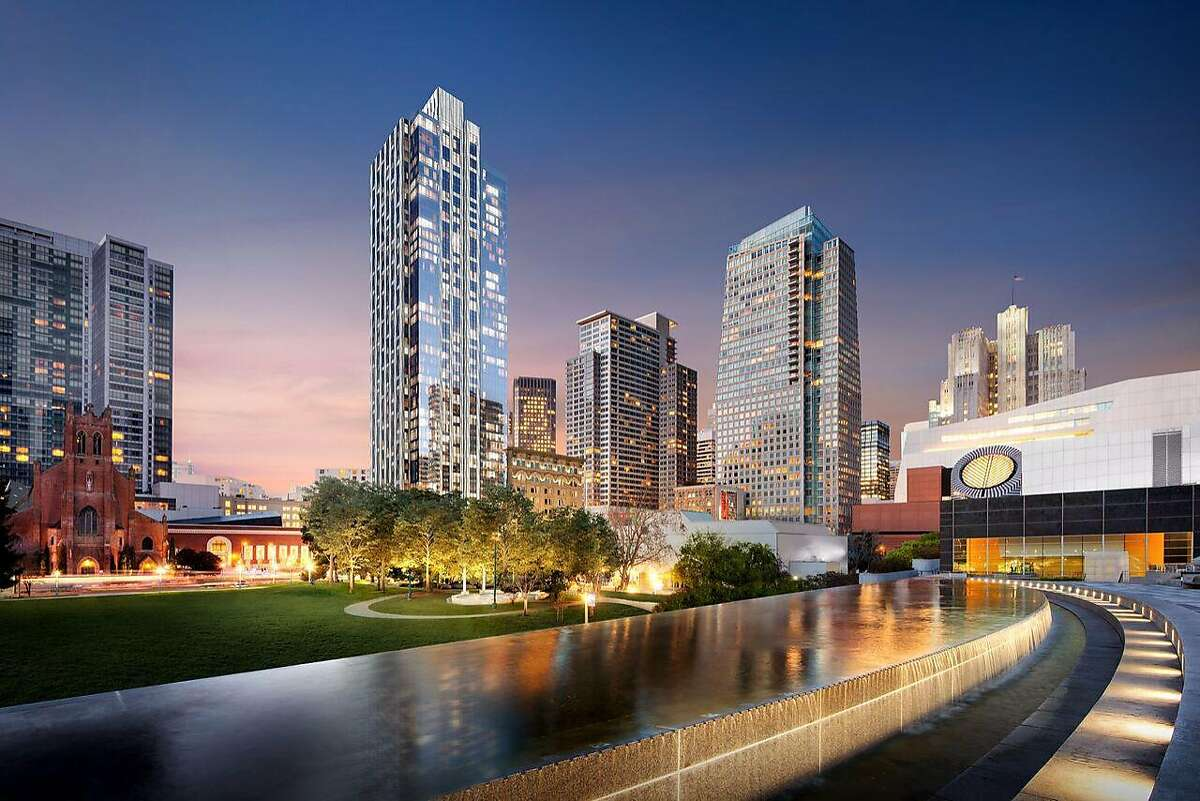 Rendering of the new building at 706 Mission St. at Jessie Square that will contain Four Seasons Residences