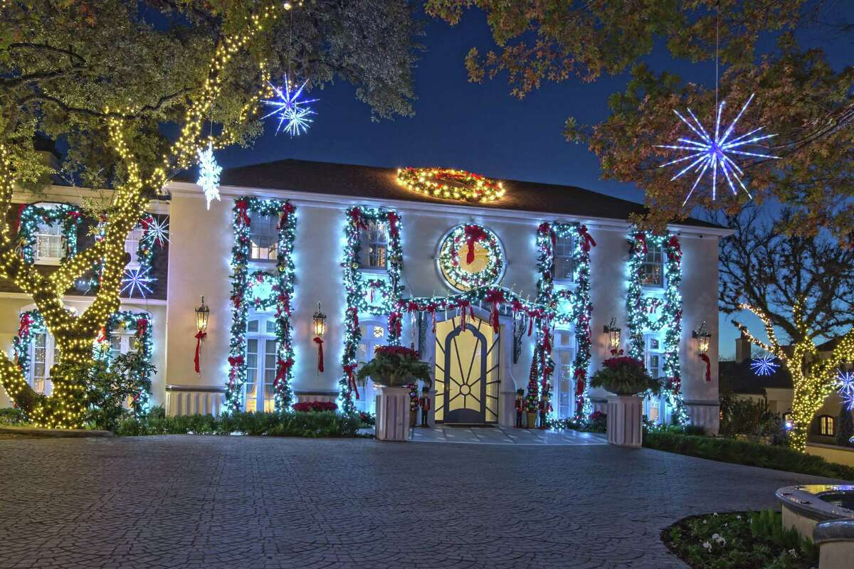 """Richard """"Dick"""" and Kristin Tips' home is a well-known landmark around Terrell Hills, especially when it's decorated for Christmas."""