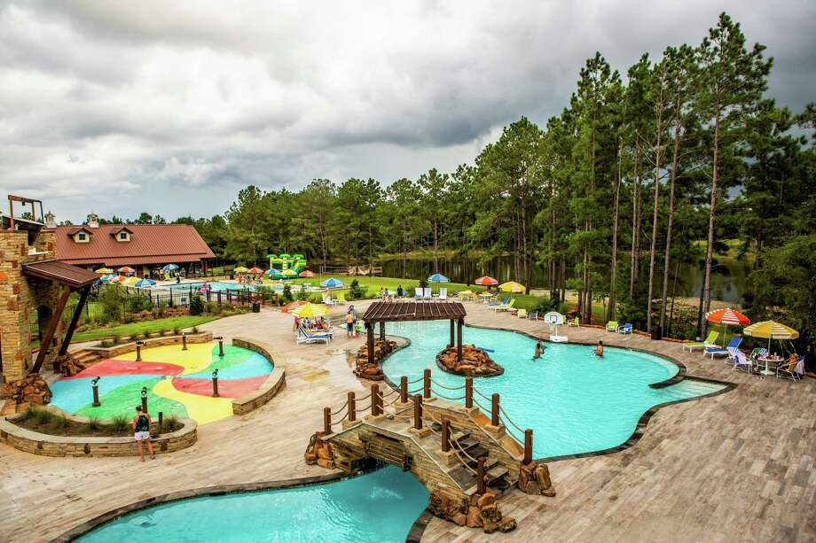 The Fort at Bluejack National resort and club offers resort-style pools and splash pads. Photo: Bluejack National