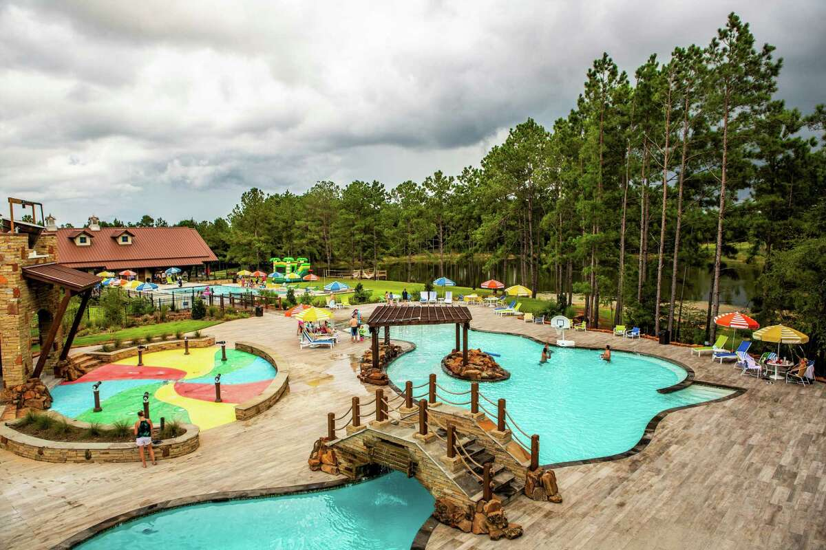 SEE THE AMENITIES: The Fort at Bluejack National resort and club offersresort-style pools and splash pads.>>>Take a photo tour of Bluejack National...