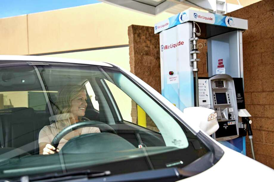 The Houston office of French-owned industrial gas company Air Liquide is betting on the growing adoption of hydrogen-powered vehicles with plans to build a $150 million liquid hydrogen plant in the western United States. The company already owns a hydrogen fueling station in Anaheim, California. Photo: Courtesy Photo / Air Liquide