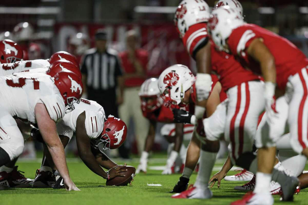 PHOTOS:Houston's top 100 high school football recruits in Class of 2020 A view down the line of scrimmage during the high school football game between the North Shore Mustangs and the Katy Tigers at Legacy Stadium in Houston, TX on Friday, August 31, 2018. >>>Browse through the photos to see thetop 100 high school football recruits in the Class of 2020 ...