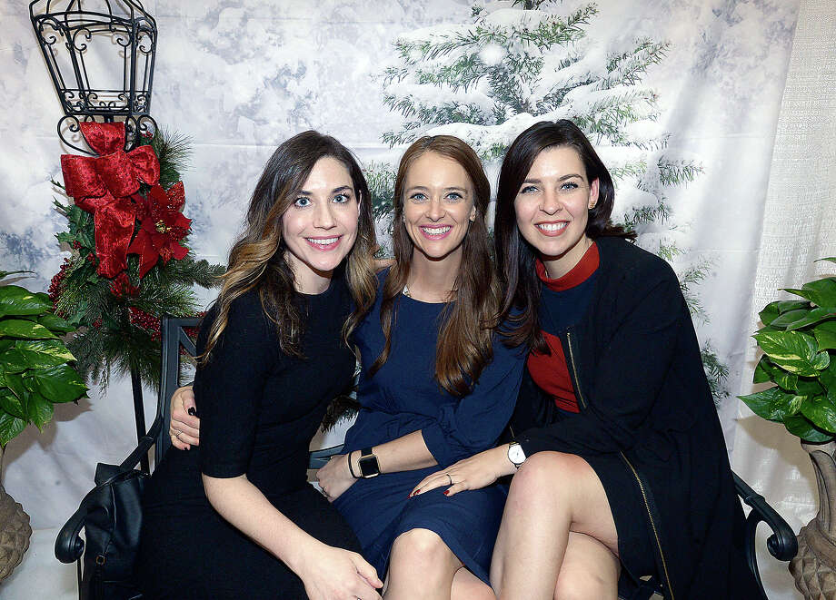 Elizabeth McKim, Cat Griffin and Sara Norman were at the opening night of the Junior League of Beaumont's annual Main Street Market Thursday at the Civic Center. The holiday shopping continues Friday 10 a.m. - 8 p.m. and Saturday 10 a.m.- 5 p.m. Photo taken Thursday, November 29, 2018 Kim Brent/The Enterprise Photo: Kim Brent/The Enterprise