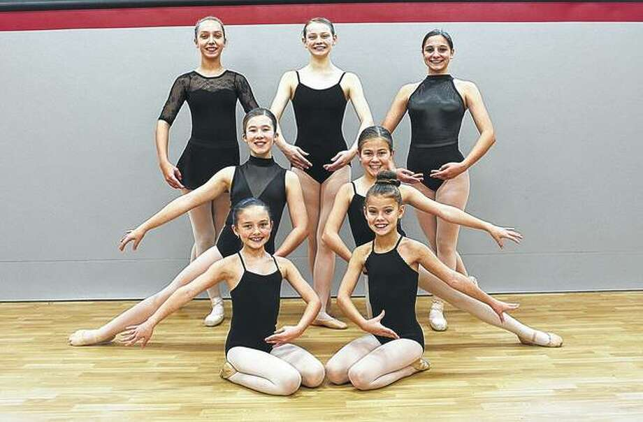 "Young dancers from the region taking part in the Springfield Ballet Company's performance of ""The Nutcracker"" in December are Nora Wilson (back row, from left), Leah Hoffman and Meredith Gallo; Emma Wolters (middle row, from left) and Lily Hickox; and Jacey Bates (front row, from left) and Lily Brown. Payton Lowery also is among the performers. Photo: Photo Provided"