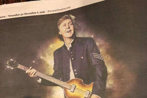 A Paul McCartney ad for a show that will NOT happen on April 28.