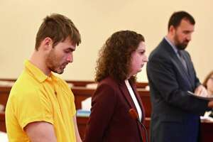 Thomas Slivienski arraigned on Nov. 30, 2018, in Albany County Court for the alleged murder of Johni Dunia in Cohoes, NY, earlier in the month. (Skip Dickstein/Times Union)