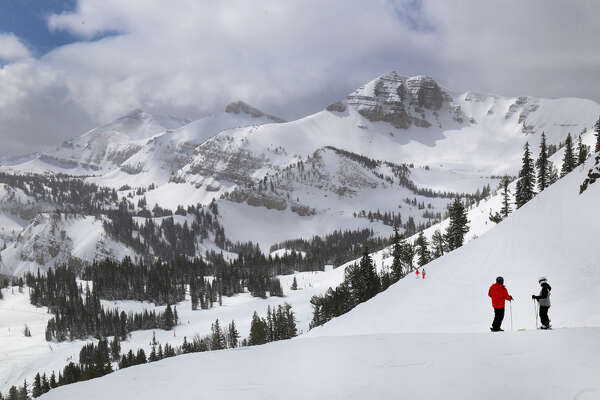 Resorts in several states set records for skier visits, including Whitefish and Bridger Bowl in Montana; Stevens Pass in Washington; Jackson Hole in Wyoming (shown); and Schweitzer Mountain in Idaho.