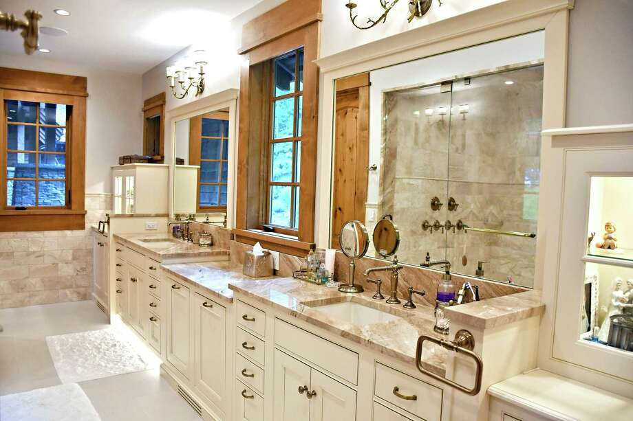 Columbia Cabinets and Curtis Lumber won an award for bathrooms over $40,000 in the design category at the 2018 Best in Building Awards Nov. 15, 2018, sponsored by the Capital Region Builders & Remodelers Association. (Photo provided)