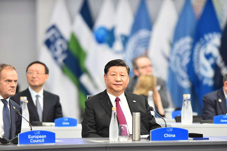 BUENOS AIRES, ARGENTINA - NOVEMBER 30: President of the People's Republic of China Xi Jinping looks on during the plenary session on the opening day of Argentina G20 Leaders' Summit 2018 at Costa Salguero on November 30, 2018 in Buenos Aires, Argentina. (Photo by Amilcar Orfali/Getty Images) Photo: Amilcar Orfali / Getty Images