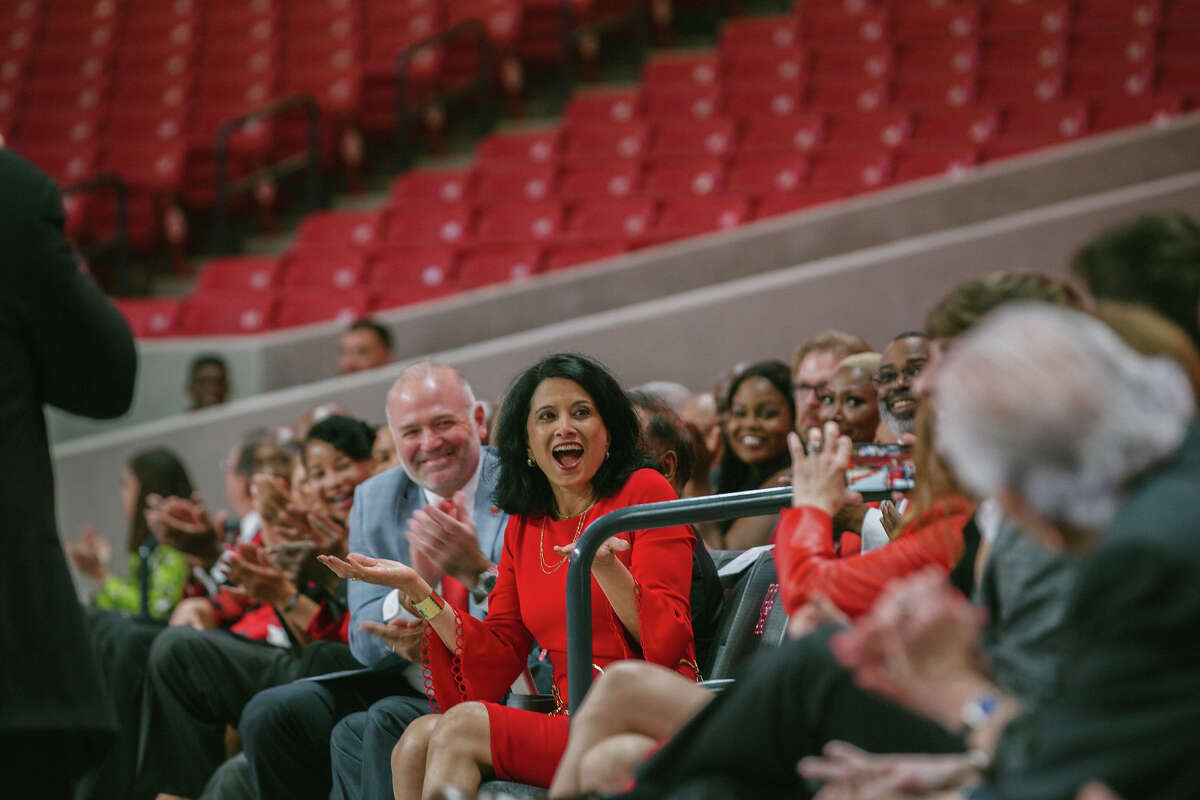 Renu Khator inducted to UH Athletics Hall of Honor