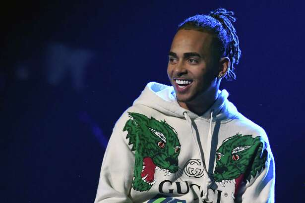 LAS VEGAS, NEVADA - NOVEMBER 14: Ozuna performs onstage during rehearsals for the 19th annual Latin GRAMMY Awards at MGM Grand Garden Arena on November 14, 2018 in Las Vegas, Nevada.