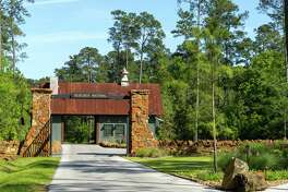 The entry to Bluejack National, a 755-acre community and club off FM 1486 Road in Montgomery.