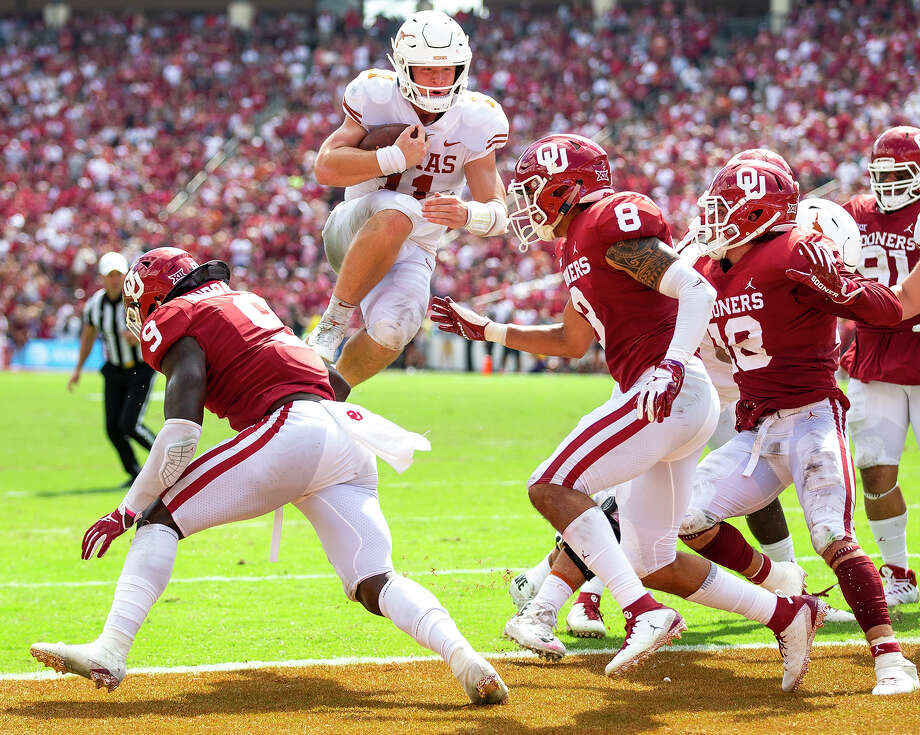 football texas college ou oklahoma state baylor ohio conference longhorn longhorns ehlinger sam sooners loss quarterback vs playoff championship game