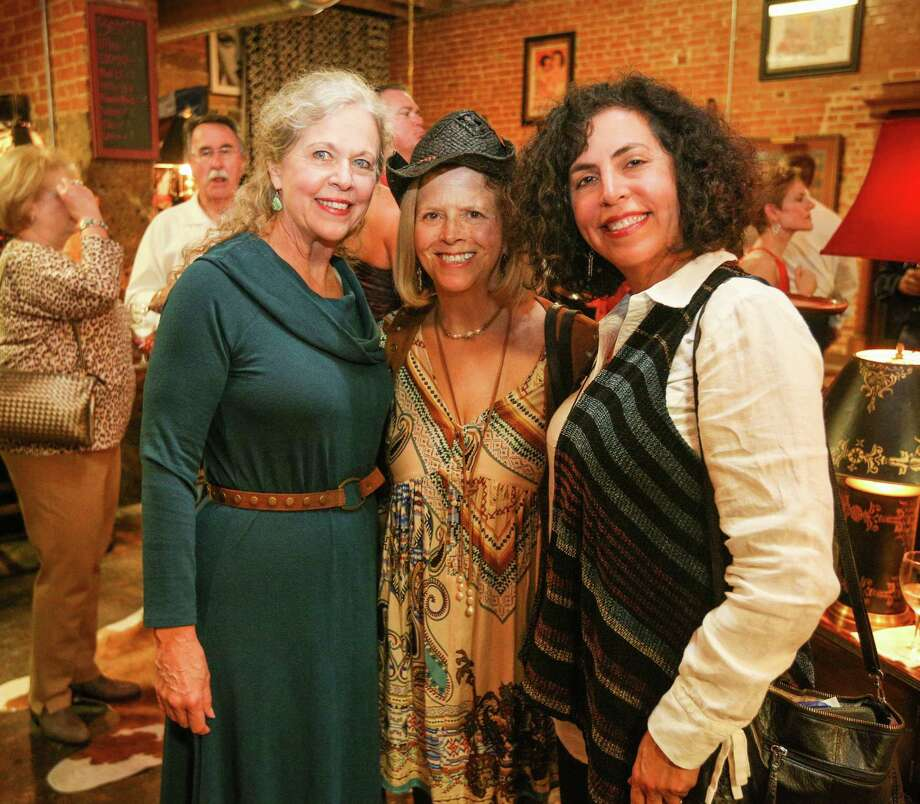 From the left, Nancy Parsons, Bonnie Longnion and Jenny Wright are pictured during the Bach, Beethoven and Barbecue Gala on Saturday, March 10, 2018, outside of Martin's Hall in downtown Conroe. Photo: Michael Minasi, Staff Photographer / Houston Chronicle / © 2018 Houston Chronicle