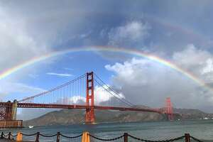 @flowerchild_g28 went one step more capturing a double rainbow after a rain shower over the Golden Gate Bridge. Thanks