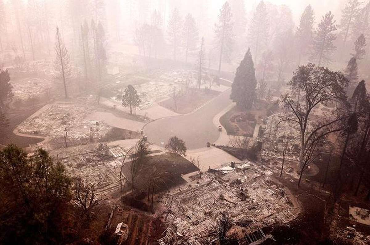 @santimejia_ used a drone to capture the destruction in Paradise from the Camp Fire.