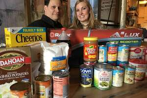 Nicholas and Nici Jessett, owners of MKT Distillery conducted a food drive in November to benefit Katy Christian Ministries. They said they plan to conduct a toy drive in December.
