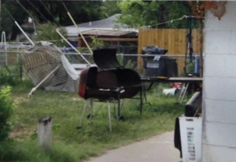 Shown is the barbecue grill that was claimed to be used in murder of Jose Luis Menchaca. Photo: Ron Cortes /Contributor / Freelance