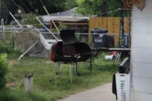 Shown is the barbecue grill that was claimed to be used in murder of Jose Luis Menchaca.