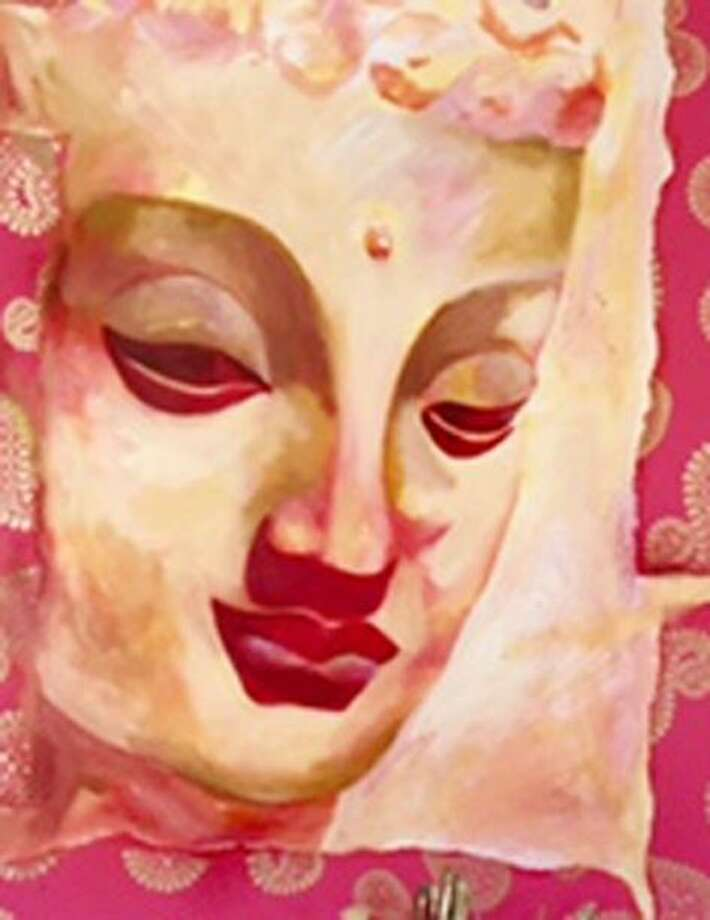 Wilton artist Jill Morton's acrylic on canvas, Thai Buddha, is part of the NEST Arts Factory exhibition on display at the Wilton Library through June 28. Photo: Contributed Photo / Norwalk Hour contributed