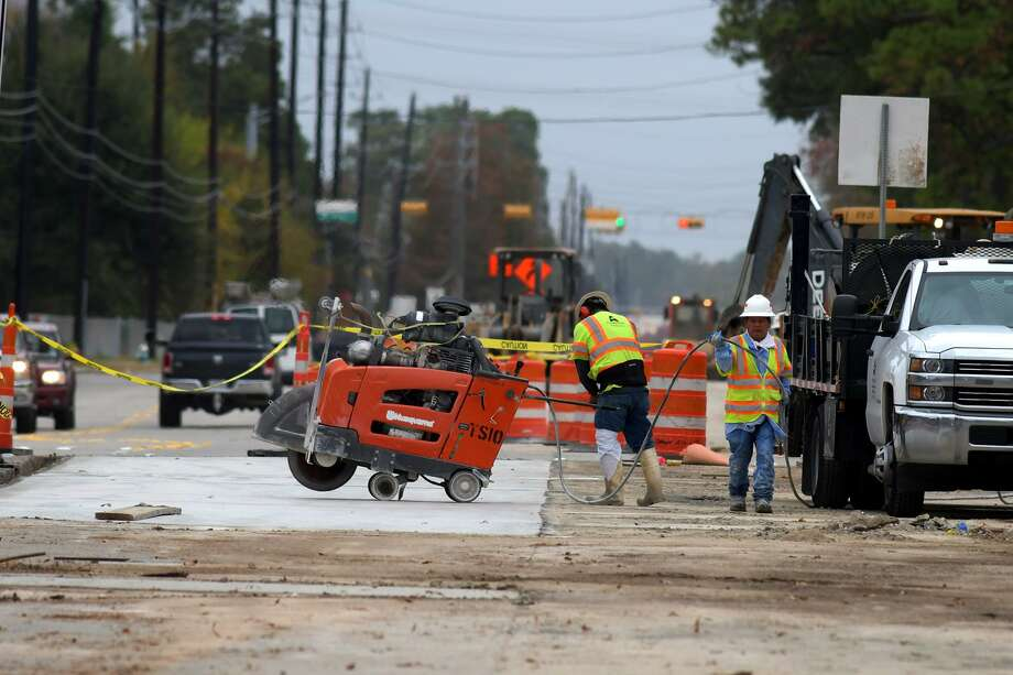 Construction continues on Grant Road near N. Eldridge Parkway in Cypress on Nov. 29, 2018. Photo: Jerry Baker, Houston Chronicle / Contributor / Houston Chronicle