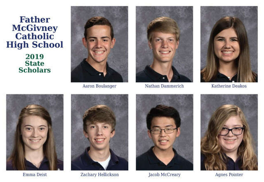Seven Father McGivney Catholic High School students were named as Illinois State Scholars. Photo: For The Intelligencer
