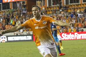 Houston Dynamo forward Andrew Wenger (11) reacts after scoring in the second half putting the team ahead 1-0 on Wednesday, Aug. 24, 2016, in Houston. ( Elizabeth Conley / Houston Chronicle )