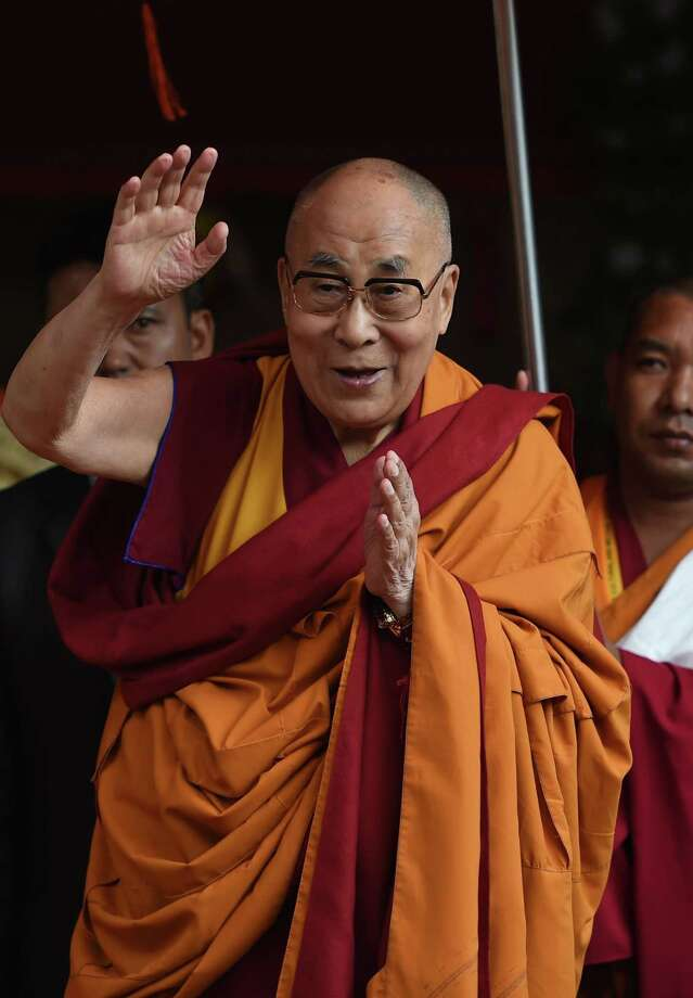 Tibetan spiritual leader the Dalai Lama arrives for his teachings during the 'Degon Yarchos Chenmo 2017' (Buddhist Summer Council) at the Diskit monastery in the Nubra Valley in India's Ladakh region near the Chinese border on July 12, 2017.  China and India have engaged in countless spats over the Tibetan community since New Delhi granted sanctuary in 1959 to Dalai Lama, who celebrated his 82nd birthday in Ladakh on July 6, 2017. / AFP PHOTO / MONEY SHARMAMONEY SHARMA/AFP/Getty Images ORG XMIT: 549 Photo: MONEY SHARMA / AFP or licensors
