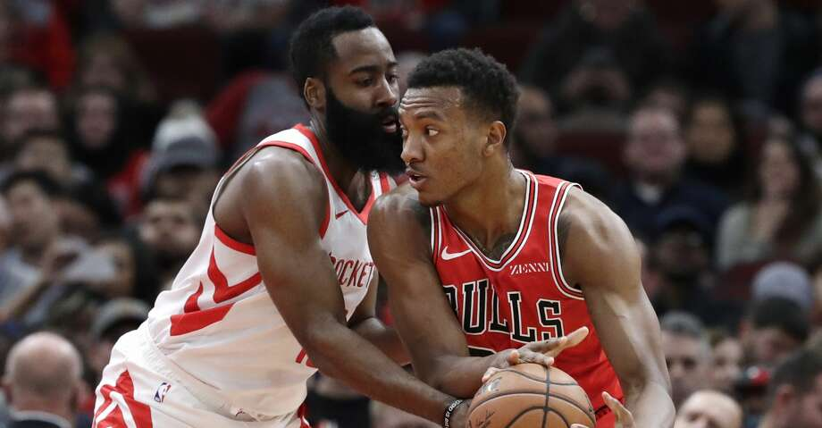 PHOTOS: Rockets game-by-game Chicago Bulls center Wendell Carter Jr., right, drives against Houston Rockets guard James Harden during the first half of an NBA basketball game Saturday, Nov. 3, 2018, in Chicago. (AP Photo/Nam Y. Huh) Browse through the photos to see how the Rockets have fared in each game this season. Photo: Nam Y. Huh/Associated Press