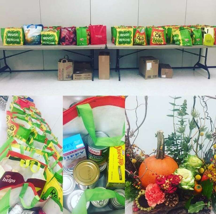 A Hearthstone Village residents asked to provide images of its Thanksgiving Food Drive success. They collected 30 full Thanksgiving meals and some general collection items. They also had a cart of turkeys that weighed 588 pounds. All was donated to the Regional Food Bank.