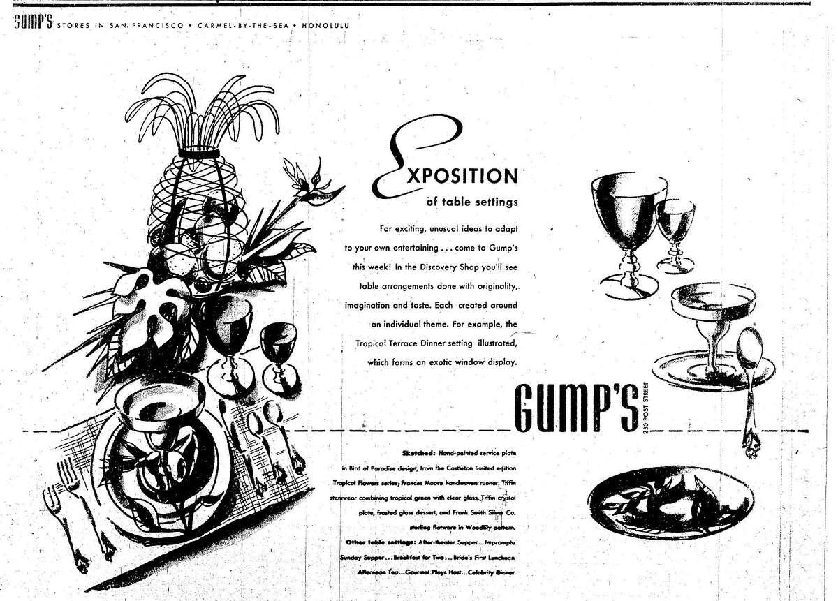 Gump's ad July 25, 1948
