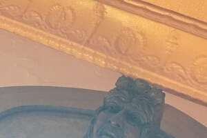 Among the adornments in the Tangled Vine restaurant, 27 decorative heads are from Carlinville's Fall Festival on the grounds of John C. Anderson mansion.