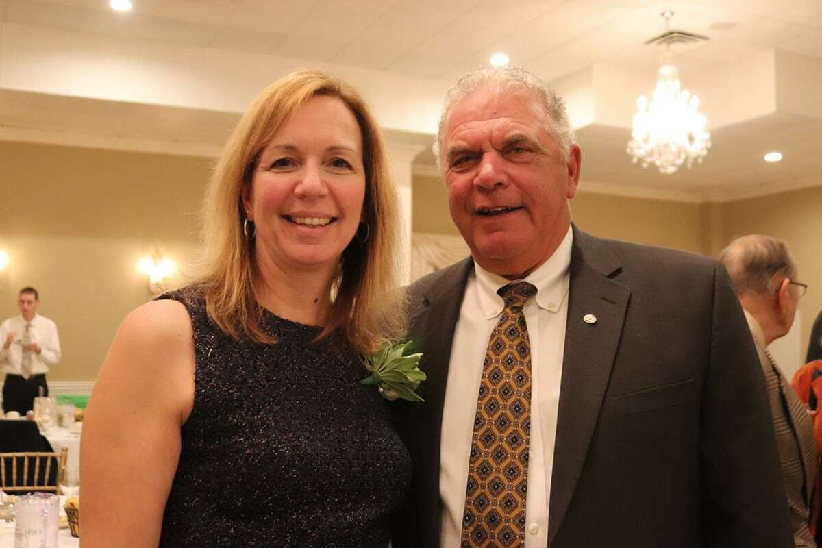 Margret Warner, Vice President, Commercial Lending Officer, at Litchfield Bancorp, was honored as the 2018 Community Leader of the Year at the Watertown Oakville Chamber of Commerce Annual Meeting and Awards dinner held Nov. 19.