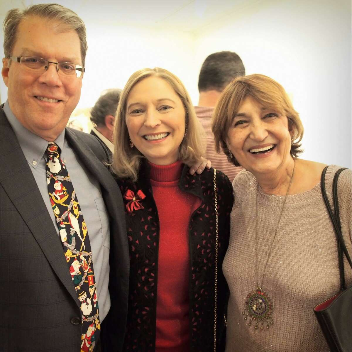 Deck the Halls martini tasting party and fundraiser to benefit FISH of Northwest Connecticut, returns Dec. 5 to Torrington. This year's event will be held at Five Points Gallery. Above, guests including Ken and Cara Blazier and Noushin Ehsan enjoy the event in 2017.