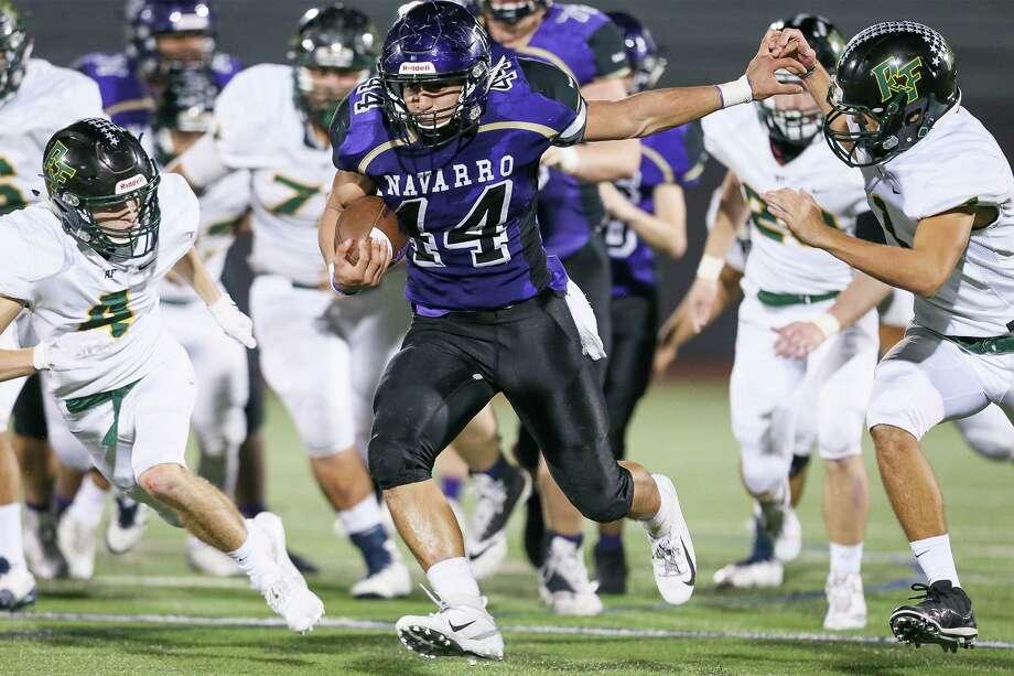 Click ahead to view San Antonio-area high school football rankings after Week 3.  10. Navarro - Sub-6A W-L: 3-0 Dist.: 13-4A-I Prev.: NR  Photo: Marvin Pfeiffer /Staff / Express-News 2018