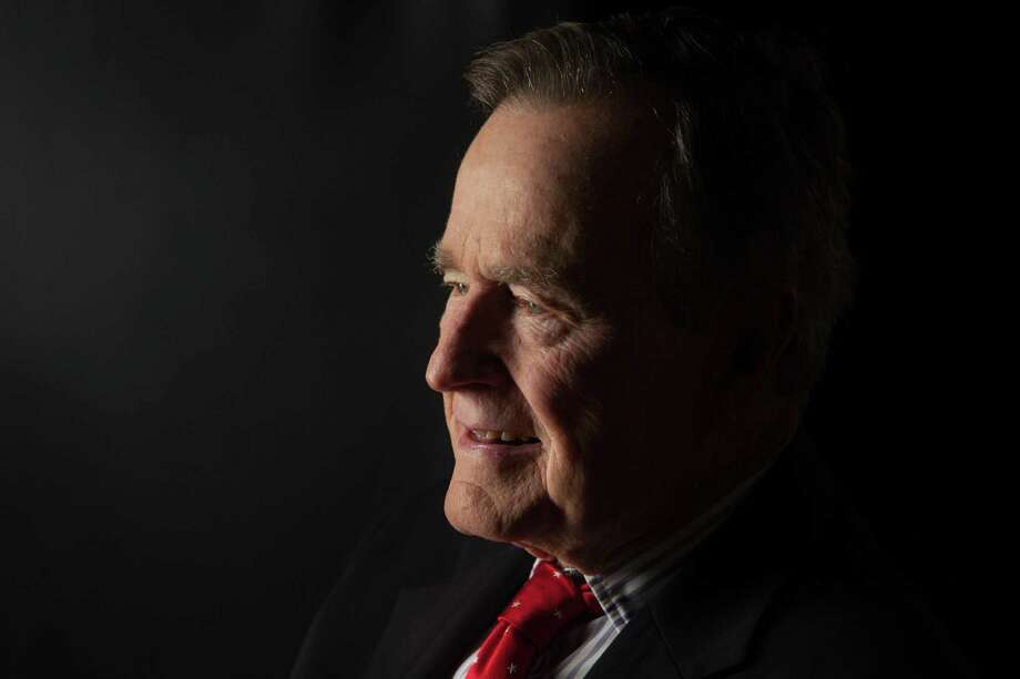 Former President George H.W. Bush is interviewed for 'The Presidents' Gatekeepers' project about the White House chiefs of staff at the Bush Library on Oct. 24, 2011, in College Station, Texas. Photo: David Hume Kennerly / Getty Images / 2015 David Hume Kennerly