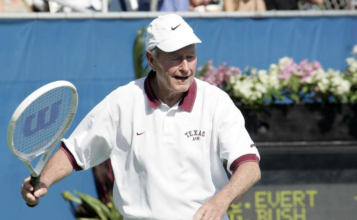 George H.W. Bush Sr during 17th Annual Chris Evert/Raymond James Pro-Celebrity Tennis Classic - November 5, 2006 at Delray Beach Tennis Center in Delray Beach, Florida, United States. (Photo by Jean Baptiste Lacroix/WireImage)