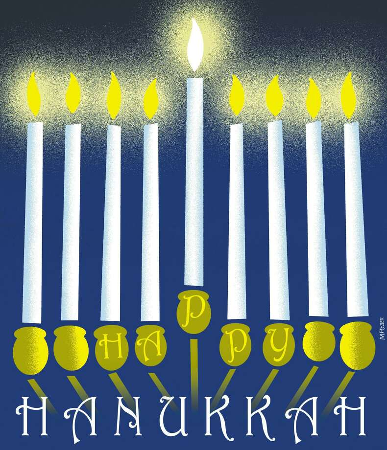 This artwork by M. Ryder relates to Hanukkah. Photo: Tribune Content Agency / M. Ryder
