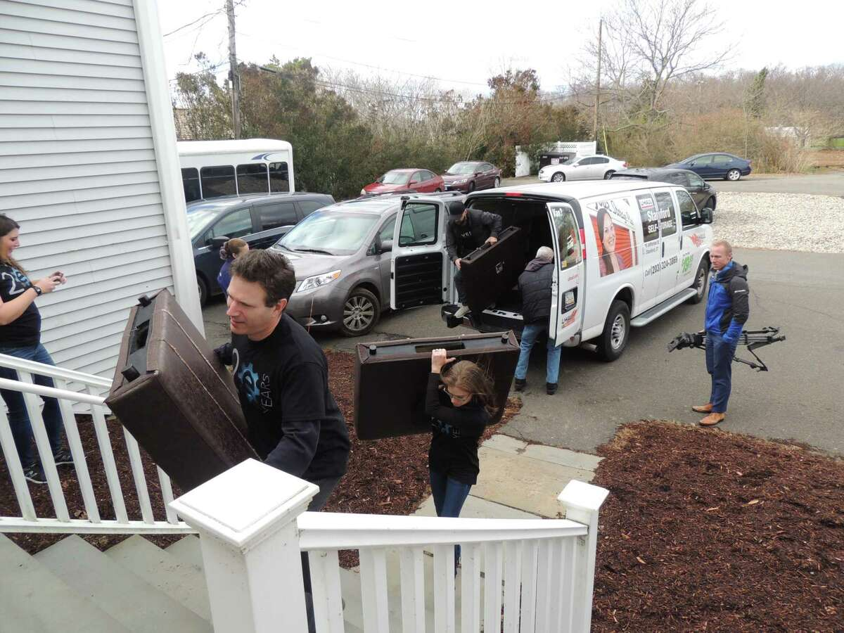 Lovesac employees donate furniture to STAR Inc. on Tuesday, Nov. 27.