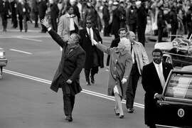 FILE � President George H.W. Bush and first lady Barbara Bush wave to the crowds on Inauguration Day in Washington, Jan. 20, 1989. Bush, the 41st president of the United States and the father of the 43rd, who steered the nation through a tumultuous period in world affairs but was denied a second term after support for his presidency collapsed under the weight of an economic downturn and his seeming inattention to domestic affairs, died on Nov. 30, 2018. He was 94. (Jose R. Lopez/The New York Times)