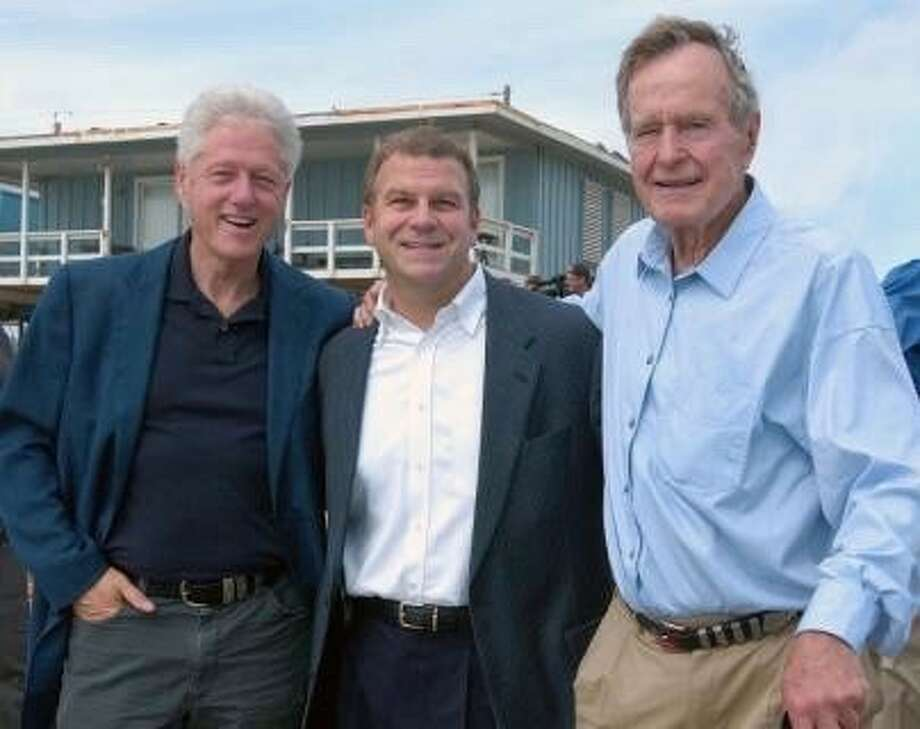 "Tilman J. Fertitta, Chairman, CEO and sole owner of Landry's, and Houston Rockets ""We went to see Bill Clinton and Clinton was ""the evil"" one listening to all of his advisers. I'd gotten to know Bill Clinton and said to H. W., 'This is a guy who loves the country just like you.'Then when ""43"" [President George W. Bush] asked H.W and Clinton to raise money together [for the Clinton Bush Haiti Fund], they continued to bond their friendship. The Bush family and the Clintons are very close today.""