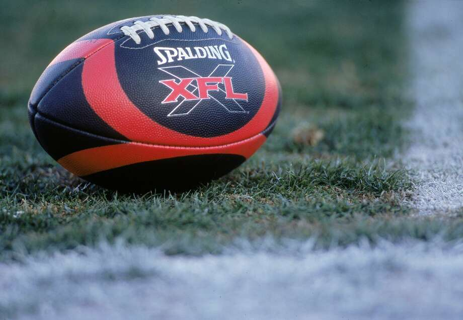 3 Feb 2001:  A view of the XFL football taken on the field before the game between the Las Vegas Outlaws and the New York/New Jersey Hitmen at the Sam Boyd Stadium in Las Vegas, Nevada. The Outlaws defeated the Hitmen 19-0.Mandatory Credit: Todd Warshaw  /Allsport Photo: Todd Warshaw/Getty Images