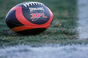 3 Feb 2001:  A view of the XFL football taken on the field before the game between the Las Vegas Outlaws and the New York/New Jersey Hitmen at the Sam Boyd Stadium in Las Vegas, Nevada. The Outlaws defeated the Hitmen 19-0.Mandatory Credit: Todd Warshaw  /Allsport