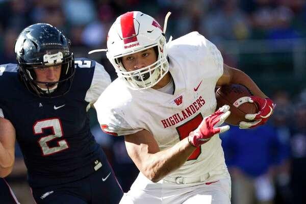 The Woodlands running back Bryeton Gilford (5) runs for a 4-yard touchdown during the third quarter of a Region II-6A semifinal high school playoff game at McLane Stadium, Saturday, Dec. 1, 2018, in Waco.