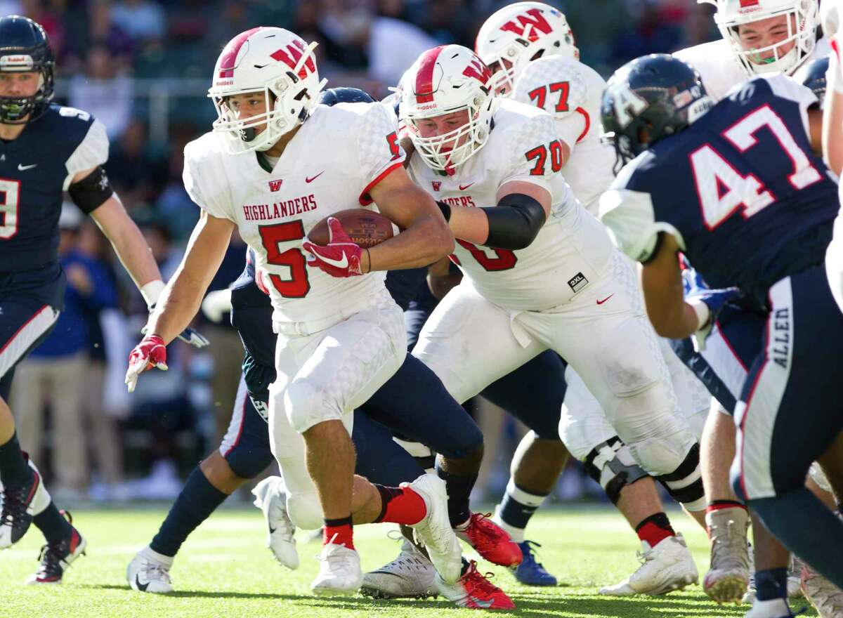 Allen 31, The Woodlands 24 The Woodlands running back Bryeton Gilford (5) runs the ball during the third quarter of a Region II-6A semifinal high school playoff game at McLane Stadium, Saturday, Dec. 1, 2018, in Waco.