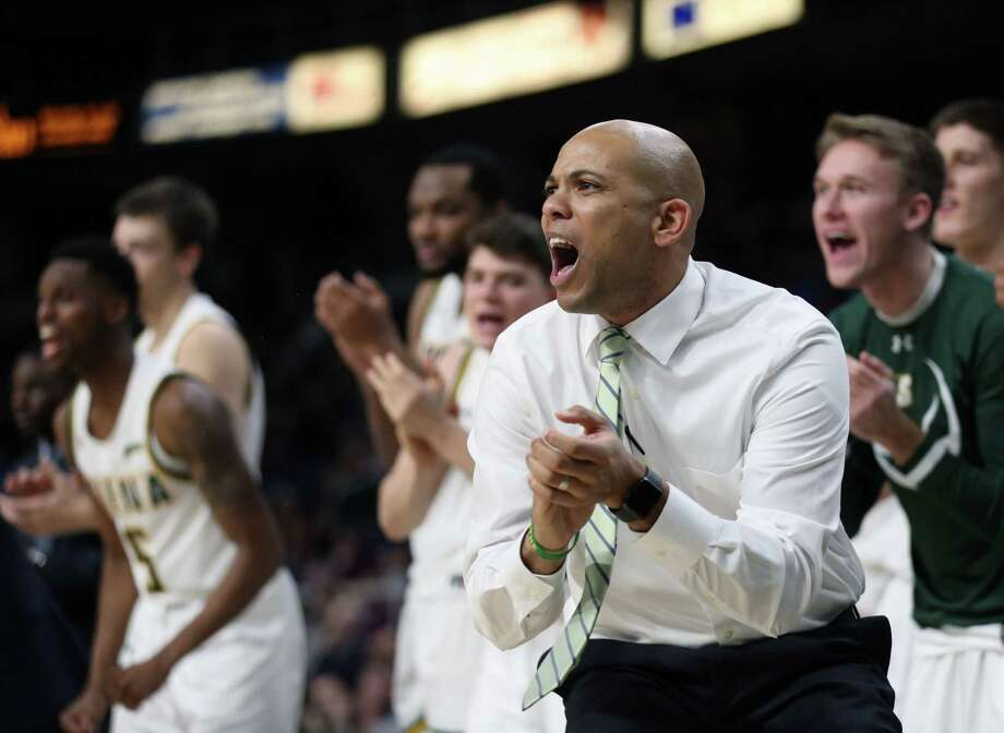 Siena men's basketball head coach Jamion Christian reacts after a play during a game against Harvard Saturday Dec. 1, 2018 at the Times Union Center. (Phoebe Sheehan/Special to the Times Union) Photo: Phoebe Sheehan