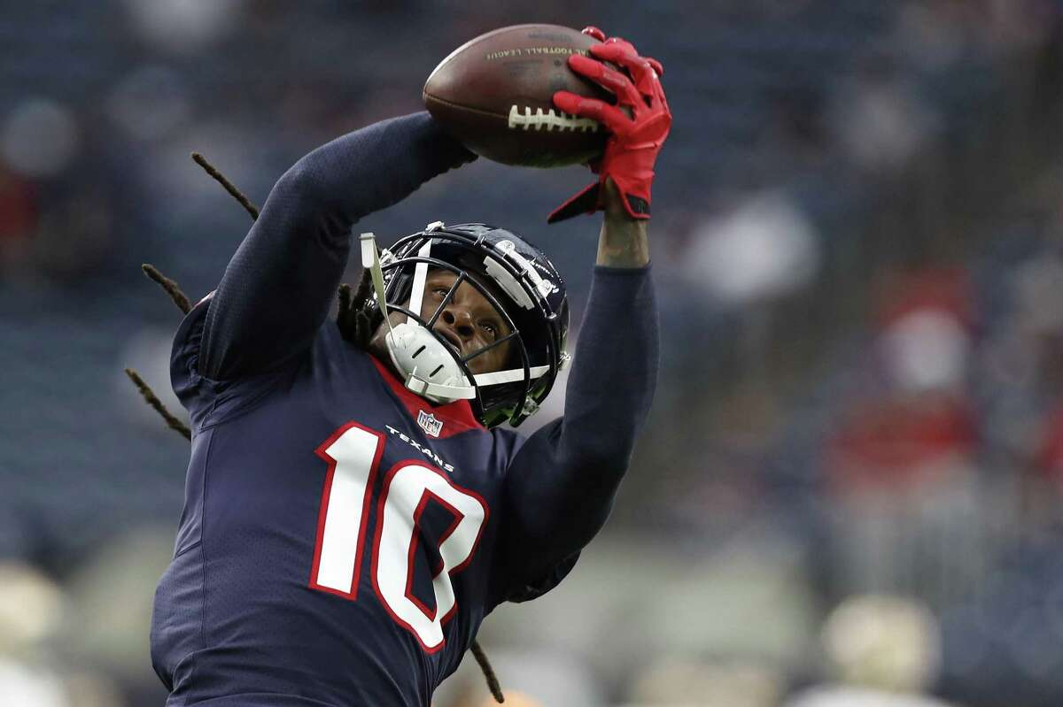 Texans wide receiver DeAndre Hopkins has yet to drop a pass this season out of his team-high 102 targets. Hopkins has 73 receptions for 1,024 yards and eight touchdowns this year.