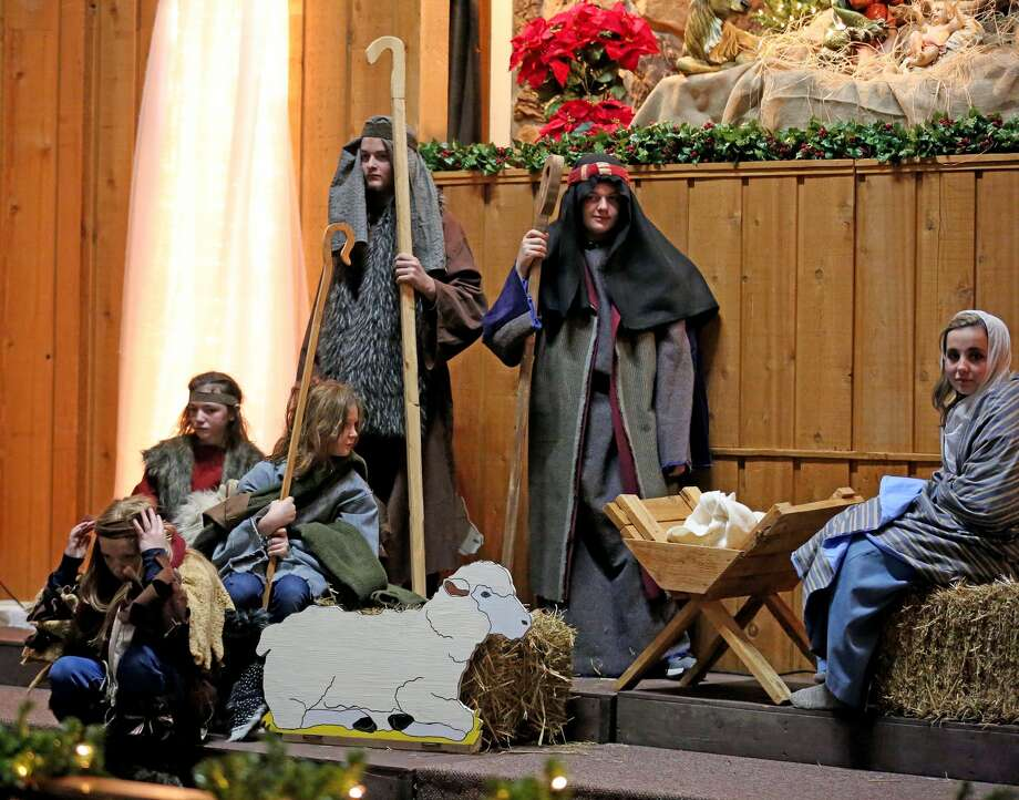 A Live Nativity was hosted by the Bad Axe Free Methodist Church on Saturday night. Everything from merchants, Roman soldiers and the Baby Jesus were portrayed during the event. Due to inclement weather, the event was moved inside.  Photo: Paul P. Adams/Huron Daily Tribune