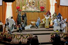 A Live Nativity was hosted by the Bad Axe Free Methodist Church on Saturday night. Everything from merchants, Roman soldiers and the Baby Jesus were portrayed during the event. Due to inclement weather, the event was moved inside.